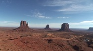 Monument Valley tilt down Stock Footage