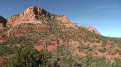 Sedona wide pan bell rock courthouse butte - stock footage