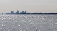 Downtown St. Petersburg Florida Silhouette Stock Footage