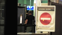 Airport TSA Full Body Scan Male Passenger Stock Footage