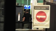 Airport TSA Full Body Scan Male Passenger Stock Footage
