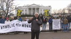 WHITE HOUSE Anti-War protest Stock Footage