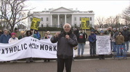 Stock Video Footage of WHITE HOUSE Anti-War protest
