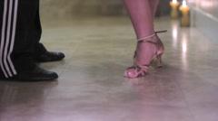 Tango Steps Low Angle Stock Footage