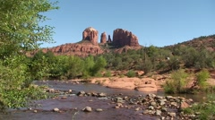 Sedona Cathedral Rock Tilt up - stock footage
