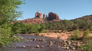 Sedona Cathedral Rock Tilt up Stock Footage