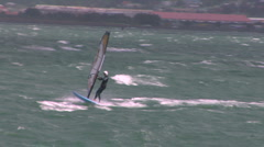 Sailboarding in Wellington Stock Footage