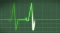 EKG Heart Monitor with pulse Stock Footage