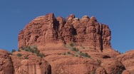 Sedona Arizona Bell Rock tilt up Stock Footage