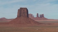 Monument Valley Pan from left to right Stock Footage