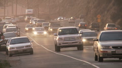 Malibu PCH Sunset Pan Stock Footage