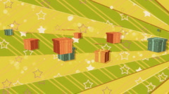 Sector and Flying Colorful Boxes  Stock Footage