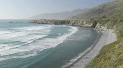 Time lapse of waves breaking on Sand Dollar Beach in Big Sur, California. Stock Footage