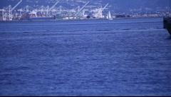 SF Boat on Bay MVI 3413 Stock Footage
