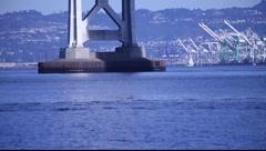 SF Boat on Bay MVI 3415 Stock Footage