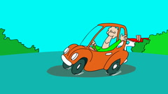 CAR CRASH,A small gag about traffical accident. Stock Footage