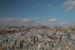 Landfill garbage Stock Footage
