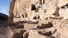 Cave Dwellings 2071 - stock footage