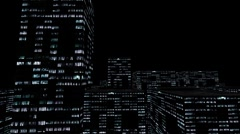City NightScape AlphaChannel - stock footage