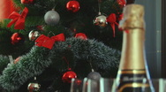 Christmas Champagne Stock Footage