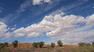 Kalahari desert cloudscape time lapse Stock Footage