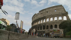 Stock Video Footage of Tourists walk toward the Colosseum