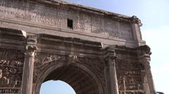 Italy, Lazio, Rome, Roman Forum Arch of Septimius Severus Stock Footage