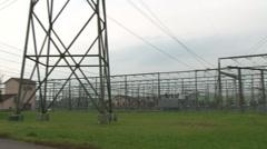 Power substation Mettlen 1 Stock Footage