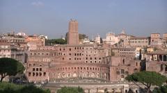 Italy, Lazio, Rome, Forum Traiano Stock Footage