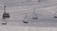Ski Lift and Cable Car Stock Footage
