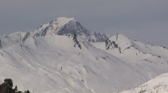 Mont Blanc from Les Arcs 1950 Stock Footage
