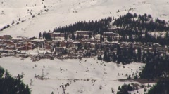 La Rosiere from Les Arcs Stock Footage