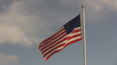 American Flag Blowing in the Wind  Stock Footage