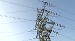 High power pylons 8 Stock Footage