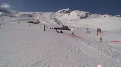 French Ski Plateau Stock Footage