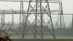 High power pylons 6 Stock Footage