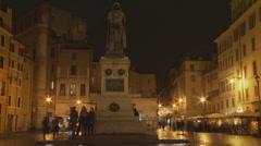 Timelapse Piazza Campo de' Fiori, Roma  Stock Footage