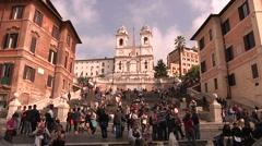 Italy, Lazio, Rome, Piazza di Spagna Stock Footage