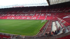 Old Trafford Football Ground Stadium Stock Footage