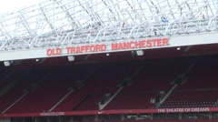 Manchester United, Old Trafford Stadium - stock footage
