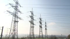 High power pylons 14 - stock footage