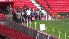 Tour Group at Old Trafford Stadium in Manchester Stock Footage