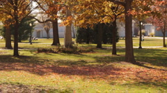 Stock Footage -Fall Trees in Park - Iowa State Fair  Stock Footage