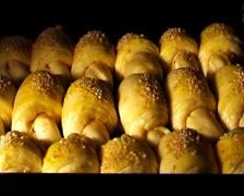 Baking food (bun) Stock Footage