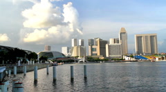 Singapore Skyline - stock footage