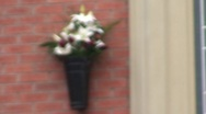 Munich Memorial Plaque and Flowers Stock Footage