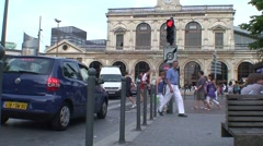 French Traffic Juntion Stock Footage