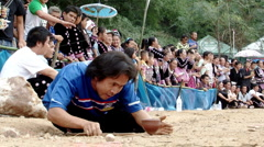 Hmong Top Spinner Stock Footage
