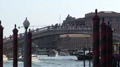Ponte Degli Scalzi in Venice Stock Footage