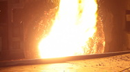 Stock Video Footage of Heavy Industry - Steel Furnace